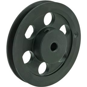 """Single V-Groove Pulley - 5"""" Pitch Dia., 1/2"""" Bore"""