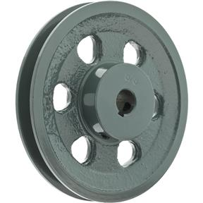 "Single V-Groove Pulley - 5"" Pitch Dia., 5/8"" Bore"