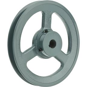 """Single V-Groove Pulley - 6"""" Pitch Dia., 5/8"""" Bore"""