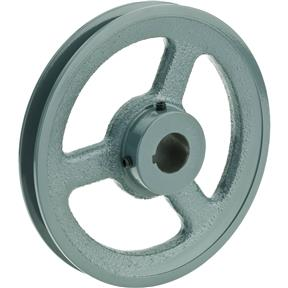 "Single V-Groove Pulley - 6"" Pitch Dia., 7/8"" Bore"