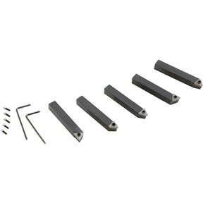 5 pc. Indexable Carbide Tool Bit Set - 3/8""