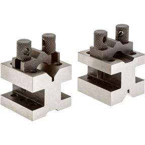 "90 V-Blocks w/ Clamp Set - 1-3/8"" x 1-3/8"" x 1-3/16"""