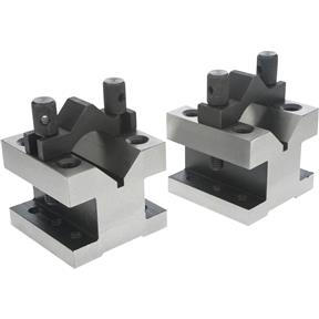 "90 V-Blocks w/ Clamp Set - 2-3/8"" x 2-3/8"" x 2"""