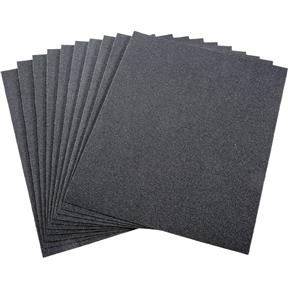 """9"""" x 11"""" S/C Sanding Sheet 100 Grit Wet/Dry, 10 pk."""