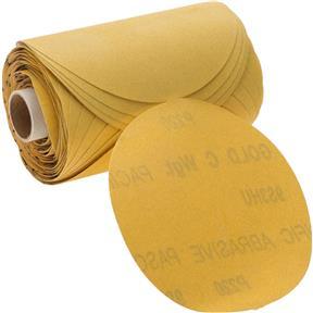 "5"" A/O Sanding Disc, 220-C Grit PSA, 100 Roll"