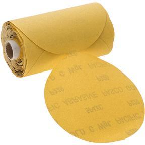 "6"" A/O Sanding Disc, 220-C Grit PSA, 100 Roll"