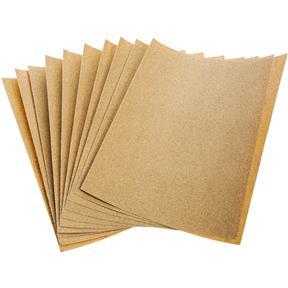 "9"" x 11"" A/O Sanding Sheet 120 Grit Heavy Paper, 10 pk."