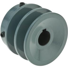 "Double V-Groove Pulley - 2"" Pitch Dia., 5/8"" Bore"