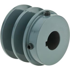 "Double V-Groove Pulley - 2"" Pitch Dia., 3/4"" Bore"