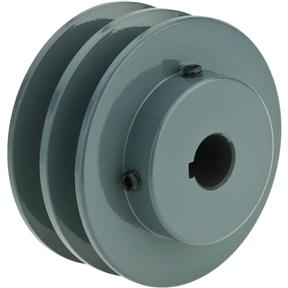 "Double V-Groove Pulley - 3"" Pitch Dia., 5/8"" Bore"