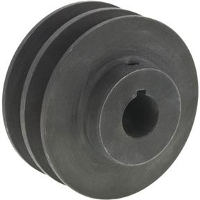 "Double V-Groove Pulley - 3"" Pitch Dia., 3/4"" Bore"