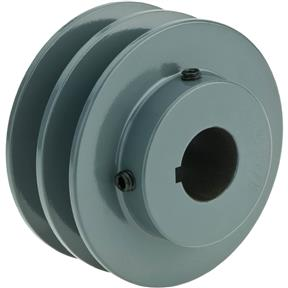 "Double V-Groove Pulley - 3"" Pitch Dia., 7/8"" Bore"