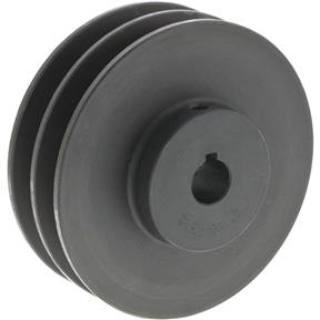 "Double V-Groove Pulley - 4"" Pitch Dia., 5/8"" Bore"