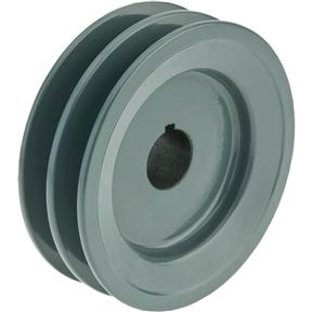"Double V-Groove Pulley - 4"" Pitch Dia., 7/8"" Bore"