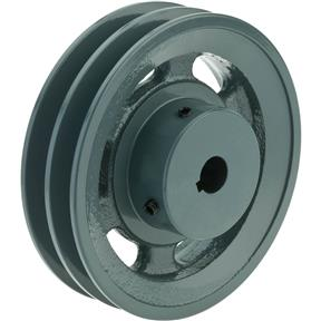 "Double V-Groove Pulley - 5"" Pitch Dia., 5/8"" Bore"