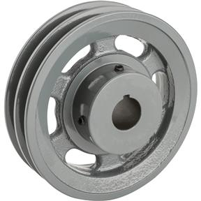 """Double V-Groove Pulley - 5"""" Pitch Dia., 7/8"""" Bore"""