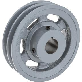 "Double V-Groove Pulley - 5"" Pitch Dia., 1"" Bore"
