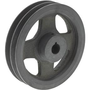 "Double V-Groove Pulley - 6"" Pitch Dia., 3/4"" Bore"