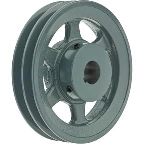 "Double V-Groove Pulley - 6"" Pitch Dia., 1"" Bore"