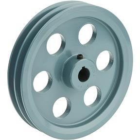 "Double V-Groove Pulley - 7"" Pitch Dia., 3/4"" Bore"