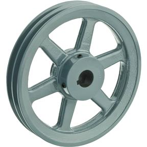 """Double V-Groove Pulley - 8"""" Pitch Dia., 1"""" Bore"""