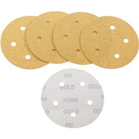 "5"" A/O Sanding Disc, 60-C Grit H&L 5 Hole, 5 pk."