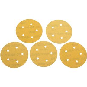 "5"" A/O Sanding Disc, 120-C Grit H&L 5 Hole, 5 pk."