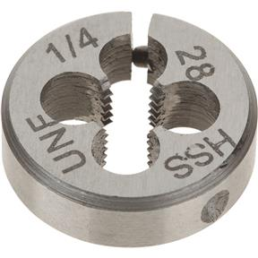 "HSS Round Adjustable Split Die - 1/4""-28 x 13/16"""