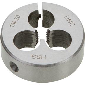 "HSS Round Adjustable Split Die - 1/4""-20 x 1-1/2"""