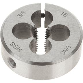 "HSS Round Adjustable Split Die - 3/8""-16 x 1-1/2"""