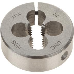 "HSS Round Adjustable Split Die - 7/16""-14 x 1-1/2"""