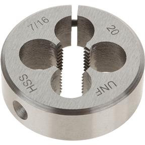 "HSS Round Adjustable Split Die - 7/16""-20 x 1-1/2"""