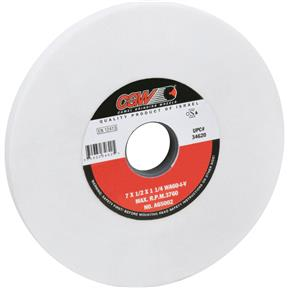 "A/O 7"" x 1/2"" x 1-1/4"" Grinding Wheel, Friable, Type 1, 60 Grit"