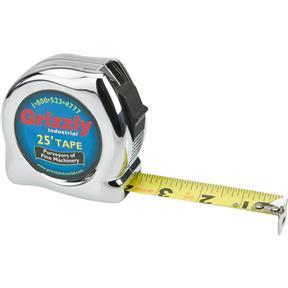 """25' x 1"""" Tape Measure (Chrome Finish)"""