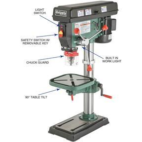 Drill Press Guard >> 14 Heavy Duty Benchtop Drill Press