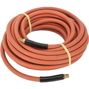 "3/8"" x 50' Red Rubber Air Hose"
