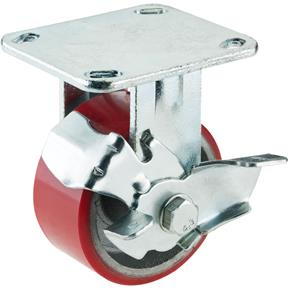 "4"" Heavy-Duty Fixed Caster w/ Brake"