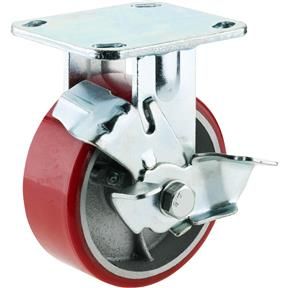 "5"" Heavy-Duty Fixed Caster w/ Brake"
