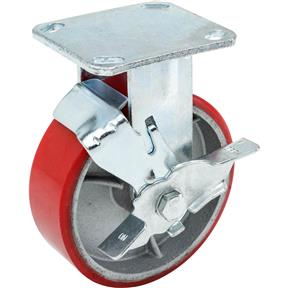 "6"" Heavy-Duty Fixed Caster w/ Brake"