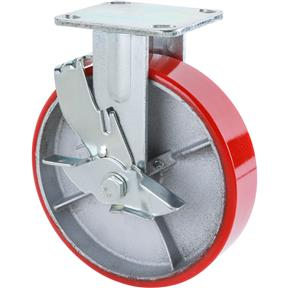 "8"" Heavy-Duty Fixed Caster w/ Brake"