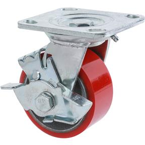 "4"" Heavy-Duty Swivel Caster w/ Brake"