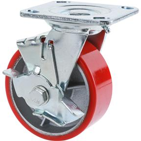 "5"" Heavy-Duty Swivel Caster w/ Brake"