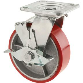 "6"" Heavy-Duty Swivel Caster w/ Brake"