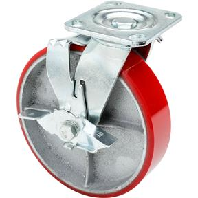 "8"" Heavy-Duty Swivel Caster w/ Brake"