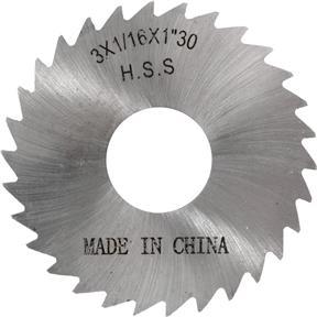 """HSS Slitting Saws - 3"""" x 1/16"""" x 1"""" 30T"""