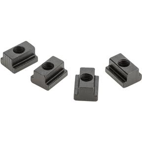 "T-Slot Nuts, pk. of 4, 7/16"" Slot, 3/8"" - 16"