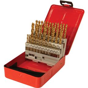 TiN Coated Drill Set - 50 pc. Metric