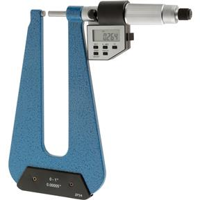 Digital Deep Throat Micrometer 0-1""