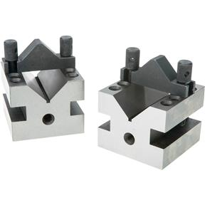 "90 V-Blocks w/ Clamp Set - 2-1/2"" x 2-1/2"" x 2"""