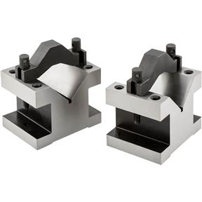 "90 V-Blocks w/ Clamp Set - 3"" x 3"" x 4"""
